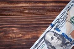 Новые 100 долларов США банкноты с пустым пространством для твоего дизайн Стоковые Фотографии RF