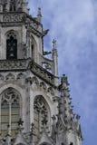 Новые детали здания ратуши в Мюнхене, Германии Стоковые Фото
