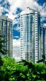 Новые жилые здани-башни в самаре стоковые изображения