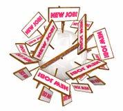 Новые знаки рабочего места открытой вакансии продвижения карьеры работ Стоковые Фотографии RF