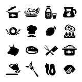 Новые значки еды Стоковое Изображение RF
