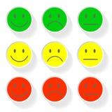 Новые значки стороны улыбки стиля Стоковое фото RF
