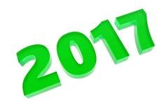 Новые диаграммы 2017 год стеклянные лежа на поле Стоковое Изображение RF