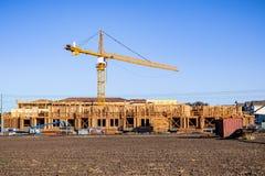 Новые и современные, многоуровневые комплексы апартаментов строятся в горном виде, области San Francisco Bay, Калифорния стоковые изображения rf