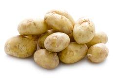 Новые картошки на белой предпосылке Стоковое фото RF