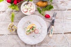 Новые картошки с творогом весны Стоковые Фотографии RF