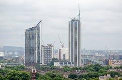 Новые квартиры, слон и замок многоквартирного дома Стоковое Изображение RF