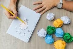 Новые концепции идеи, творческих, гения и нововведения стоковое изображение rf