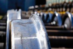 Новые колеса металла поезда Стоковые Изображения RF