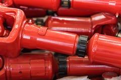 Новые красные валы cardan для тракторов Стоковые Изображения RF