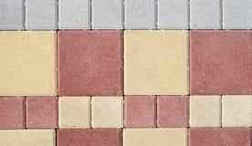 Новые красочные бетонные плиты для вымощать улиц Стоковое Фото
