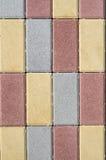 Новые красочные бетонные плиты для вымощать улиц Стоковые Фотографии RF