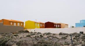 Новые красочные дома в Тенерифе Стоковые Фотографии RF