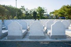 Новые могильные камни Chantaburi, Таиланд Стоковое Изображение RF