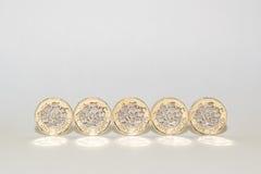 Новые монетки одного фунта Стоковая Фотография