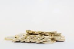 Новые монетки одного фунта Стоковые Изображения RF