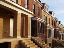 Новые дома в DC Вашингтона Стоковое Изображение
