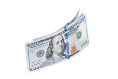 Новые 100 долларов банкнот изолированных на белизне Стоковые Изображения RF