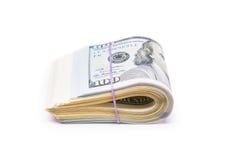 Новые 100 долларов концом вверх Стоковое фото RF