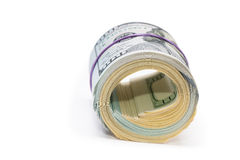 Новые 100 долларов концом вверх Стоковые Фотографии RF