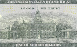 Новые 100 долларов счета Стоковые Фото
