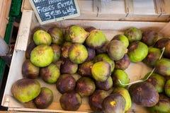 Новые плодоовощи смоквы сбора продали на местном рынке города Провансаль стоковые фотографии rf