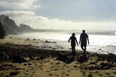 Новые пляж положения Брайтона и кемпинг, Capitola, Калифорния Стоковая Фотография RF