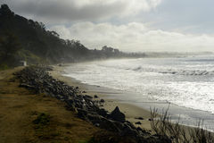 Новые пляж положения Брайтона и кемпинг, Capitola, Калифорния Стоковая Фотография