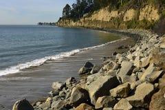 Новые пляж положения Брайтона и кемпинг, Capitola, Калифорния Стоковые Фото