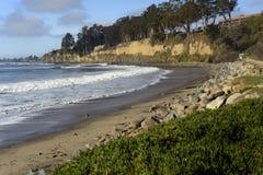 Новые пляж положения Брайтона и кемпинг, Capitola, Калифорния стоковые фотографии rf