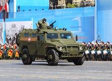 Новые русские войска вся тележка местности на военном параде Стоковое Изображение RF