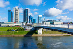 Новые современные небоскребы в Вильнюсе Стоковые Изображения RF