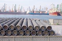 Новые трубы для газопровода Стоковые Изображения RF