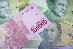 новые финансы наличных денег валюты Индонезии денег рупии Стоковое Изображение