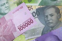 новые финансы наличных денег валюты Индонезии денег рупии Стоковые Изображения RF