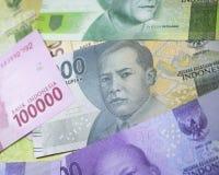 новые финансы наличных денег валюты Индонезии денег рупии Стоковое Фото
