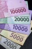 новые финансы наличных денег валюты Индонезии денег рупии Стоковое Изображение RF