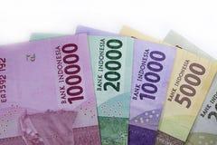 новые финансы наличных денег валюты Индонезии денег рупии Стоковая Фотография