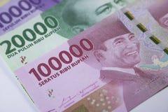 новые финансы наличных денег валюты Индонезии денег рупии Стоковые Фото