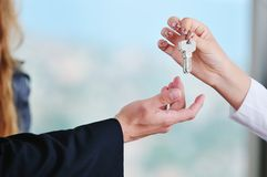 Новые домашние ключи Стоковое фото RF