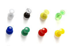 новые pushpins 1 Стоковые Фотографии RF