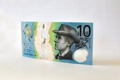 Новый австралиец примечание 10 долларов Стоковые Изображения