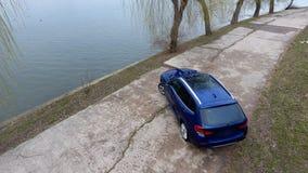 Новый автомобиль, увиденный сверху Стоковая Фотография