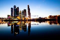 Новый бизнес-центр Москва небоскребов. Стоковые Изображения RF