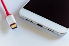 Новый быстрый тип-C порт USB Стоковая Фотография