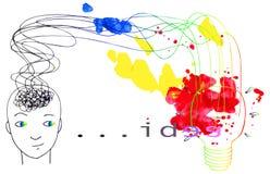 Новый вектор концепции идей Стоковые Фотографии RF