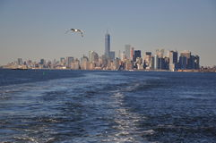 Новый взгляд от корабля, городское Манхаттан Jork Стоковые Фото