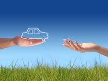 новый владелец принципиальной схемы автомобиля Стоковая Фотография RF