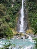 новый водопад zealand Стоковое Фото