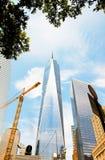 Новый всемирный торговый центр Нью-Йорк Уолл-Стрит Стоковые Фотографии RF